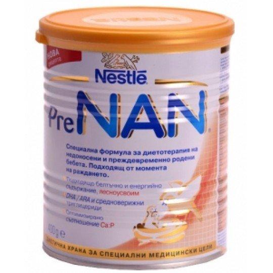 Nestle NAN Бебешко адаптирано мляко за недоносени /Pre/ Етап 2  400гр.